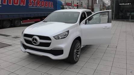 See Mirrorless Mercedes Concept X-Class Being Driven Into Showroom