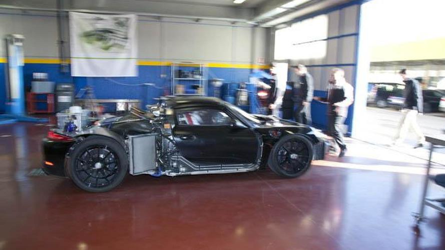 Porsche 918 Spyder prototype in motion at Nardo [video]