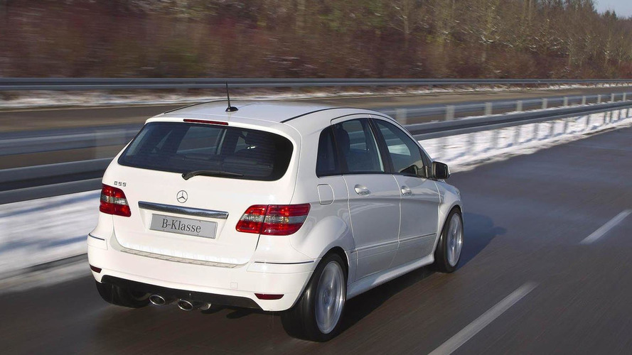 The B55: Mercedes-Benz drops a 5.5 liter V8 into the B-Class