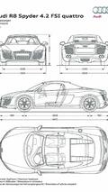 Audi R8 Spyder 4.2 FSI dimensions 01.07.2010