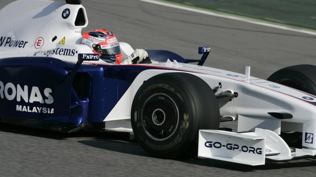 Pre season testing at The Circiut de Catalunya, Barcelona, Spain. Robert Kubica (POL) in the BMW Sauber F1.09
