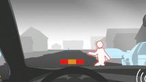 Volvo Pedestrian detection illustration