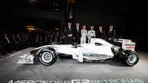 Mercedes GP MGP W01 car launch, Nico Rosberg, Michael Schumacher - 25.01.2010