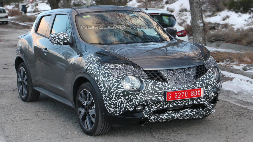 Nissan Juke facelift spied for the first time