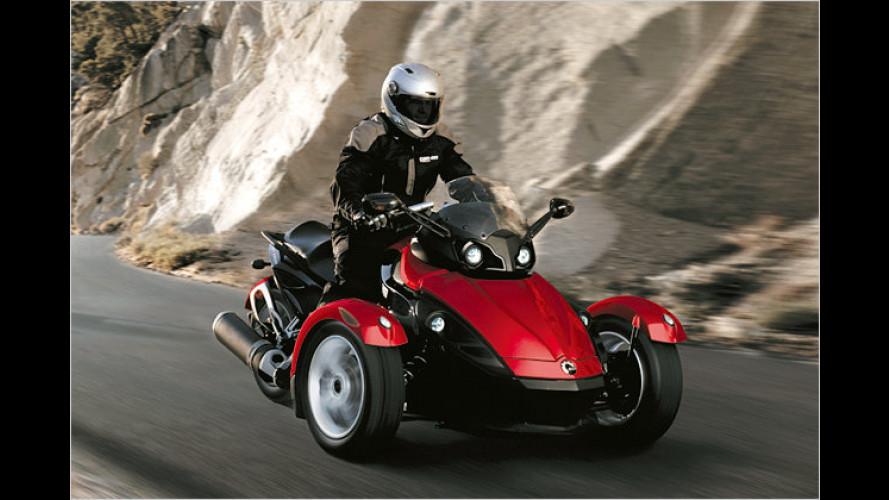 Motorrad mit drei Rädern: Der BRP Can-Am Spyder Roadster