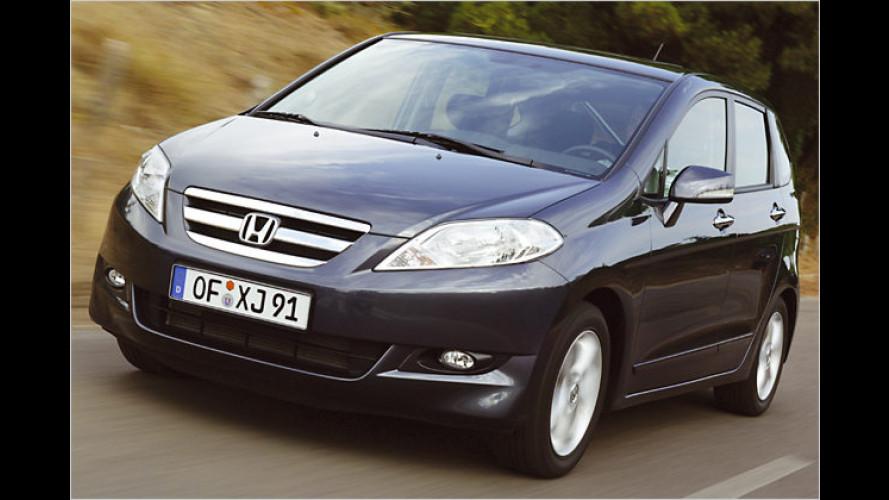 Sechs gewinnt: Honda FR-V mit 1,8-Liter-Benziner im Test