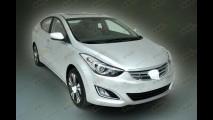 Vazou: Hyundai Elantra aparece com visual renovado na China