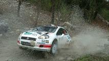 WRC racing in action