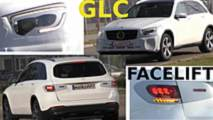 2019 Mercedes GLC facelift screenshots from spy video