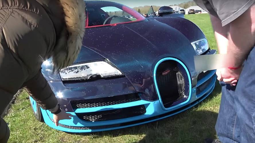 Bugatti Veyron Reaches 208 MPH; Hits Barriers During Deceleration