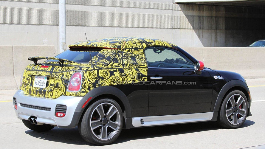 MINI Coupe JCW spied revealing more
