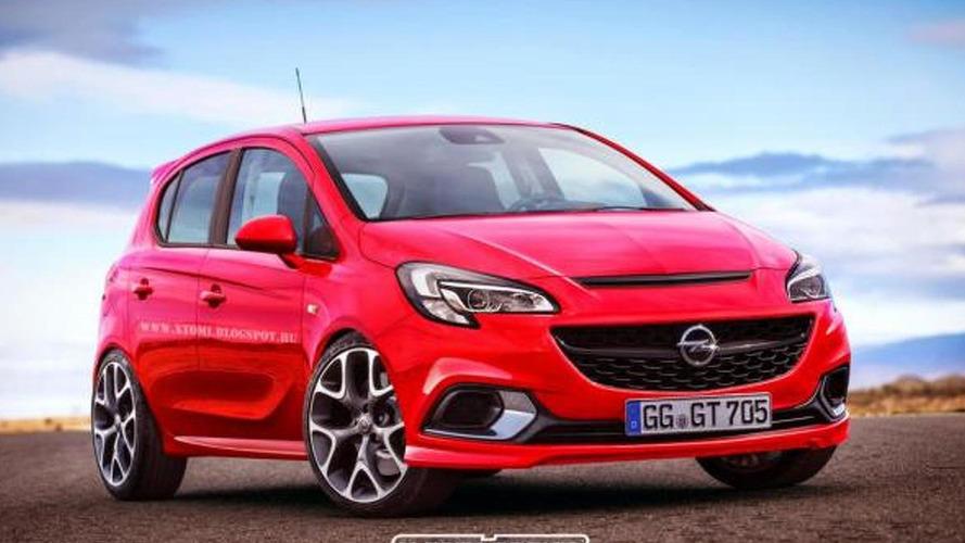 2015 Opel Corsa OPC rendered with rear doors