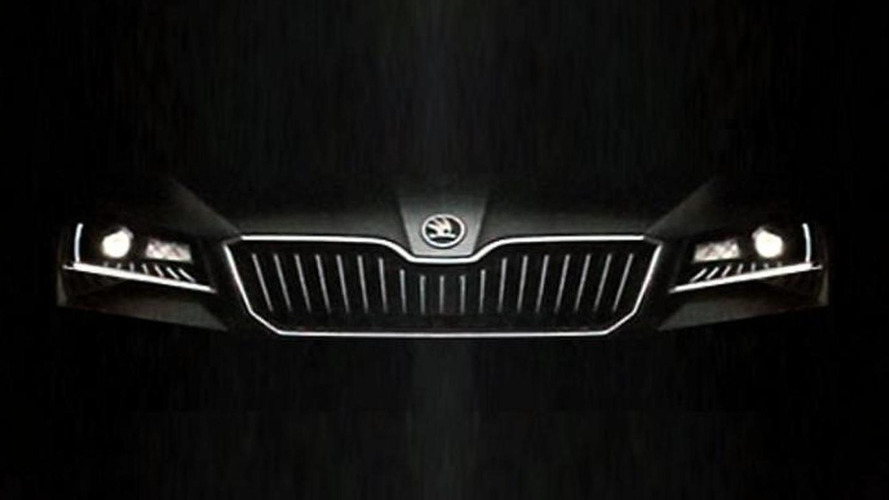 Skoda drops new teasers for 2015 Superb