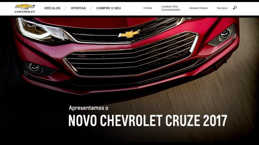 Novo Cruze 2017: mais detalhes aparecem no site da Chevrolet do Brasil