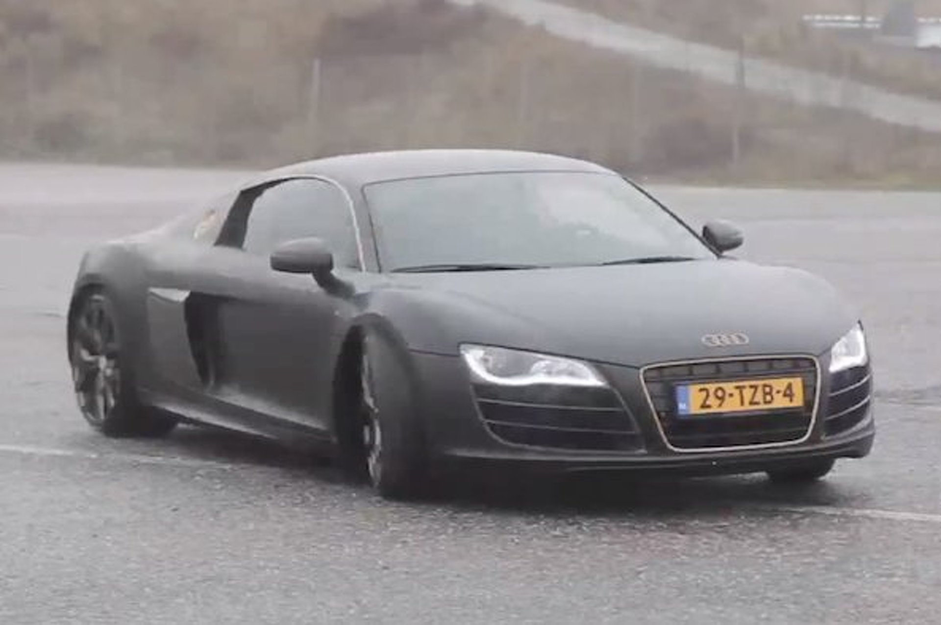 Video: Afrojack Drifts His Audi R8 and Doesn't Crash It