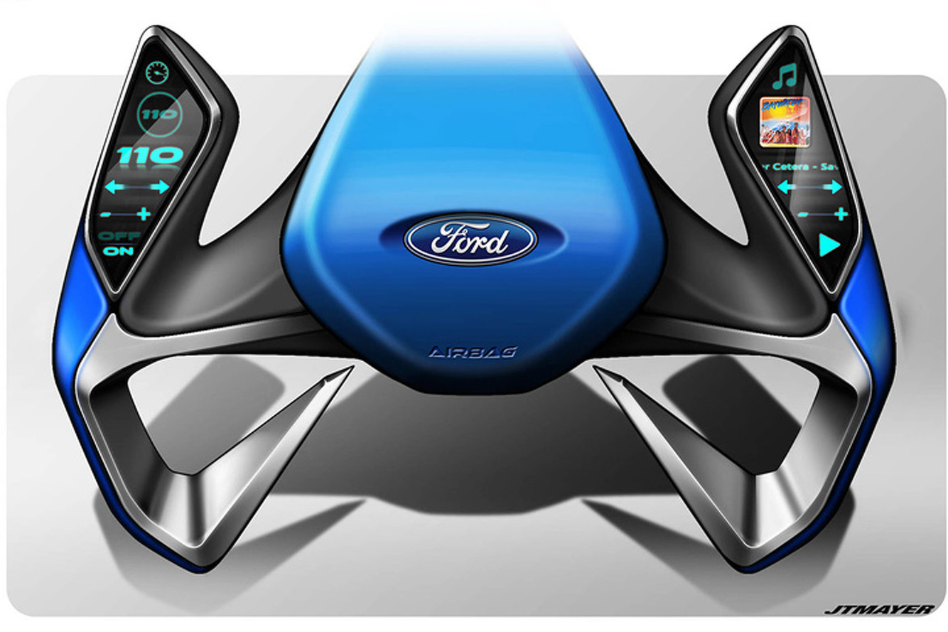 this could be the ford steering wheel of the future. Black Bedroom Furniture Sets. Home Design Ideas