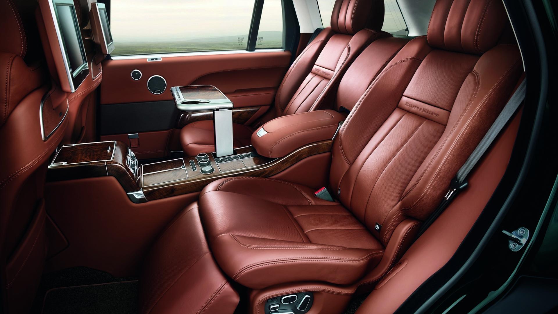 Range Rover Holland & Holland: салон коричневая кожа