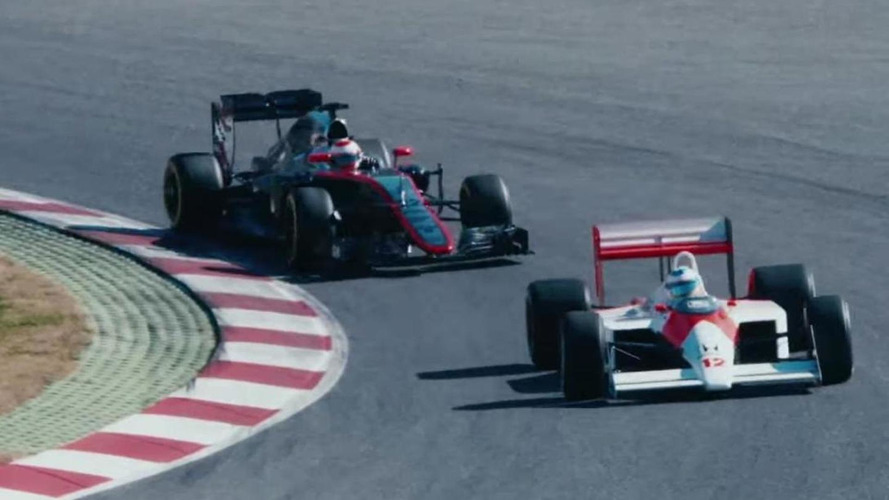 Fernando Alonso drives Ayrton Senna's McLaren MP4-4 [video]