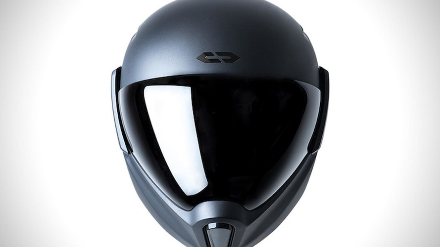 High-Tech Motorcycle Helmet Packs Rearview Camera, Sci-Fi Design