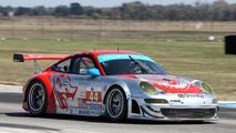 911 GT3 RSR, Flying Lizard Motorsports: Darren Law, Seth Neiman, Richard Lietz, American Le Mans Series, round 1 in Sebring, USA, qualifying, 19.03.2010