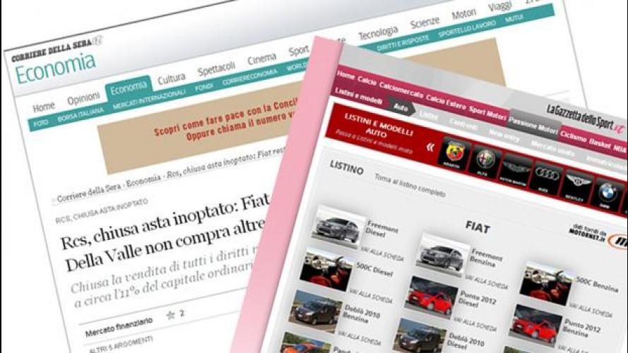 Fiat: dopo La Stampa, controllerà anche il Corriere della Sera e La Gazzetta dello Sport?