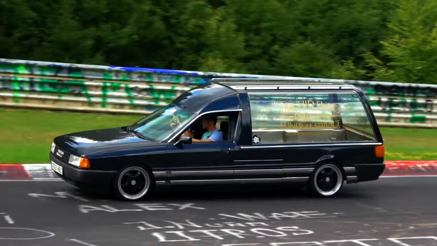 "Audi 80 Hearse At The Nurburgring Puts The ""Fun"" In Funeral"