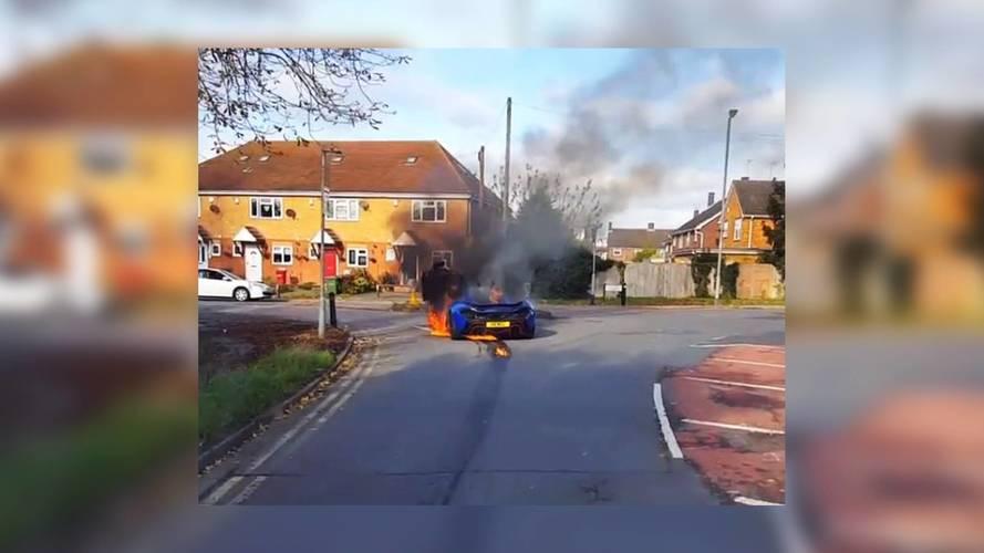 McLaren P1 incendie