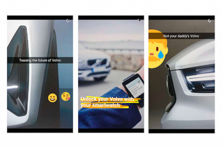Volvo Teasing a New Model On Snapchat is Kind of Genius
