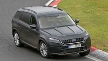 2017 Skoda Kodiaq spied at the Nurburgring