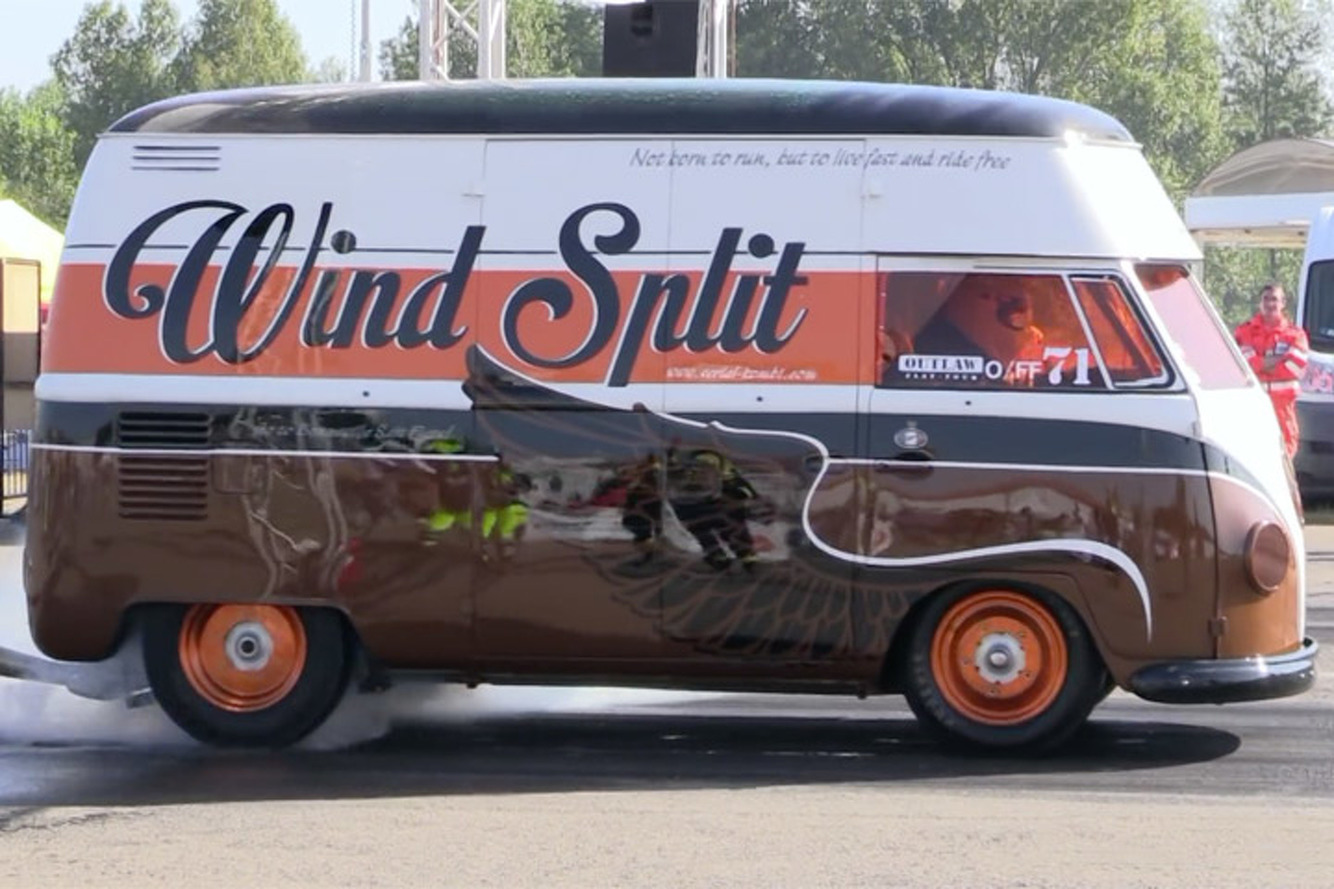 330HP Volkswagen Drag Van Looks Classy, Goes Like Stink