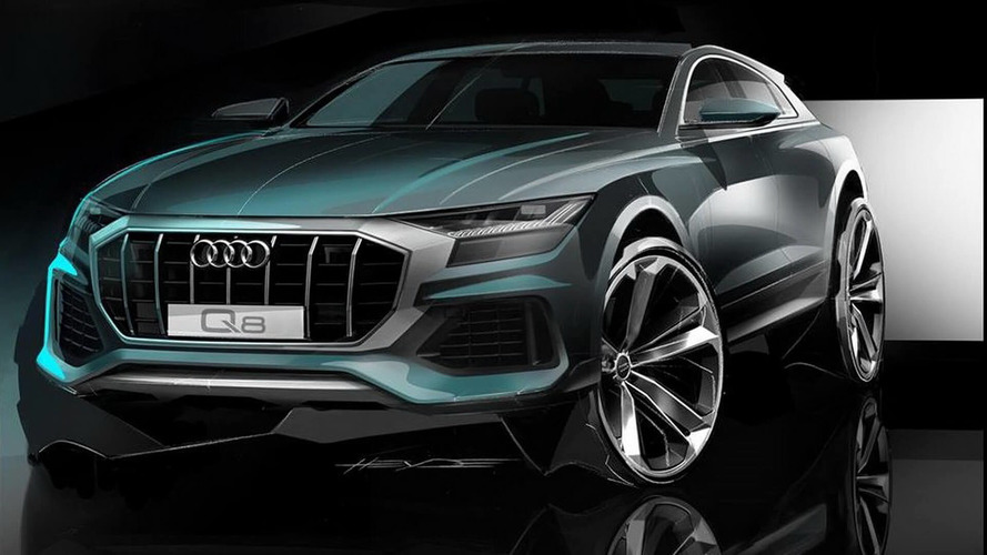 Audi Q8 Teaser Sketch Reveals Aggressive Front Design [UPDATE]