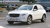 Mercedes GLC Facelift spy shots