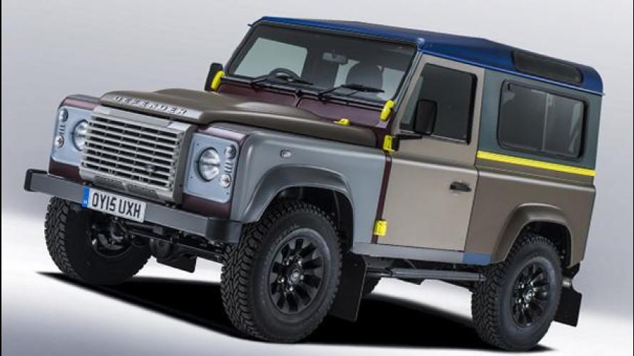 Land Rover con Paul Smith, mai visto un Defender così colorato