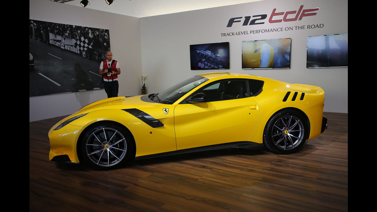 Ferrari F12tdf live alle Finali Mondiali