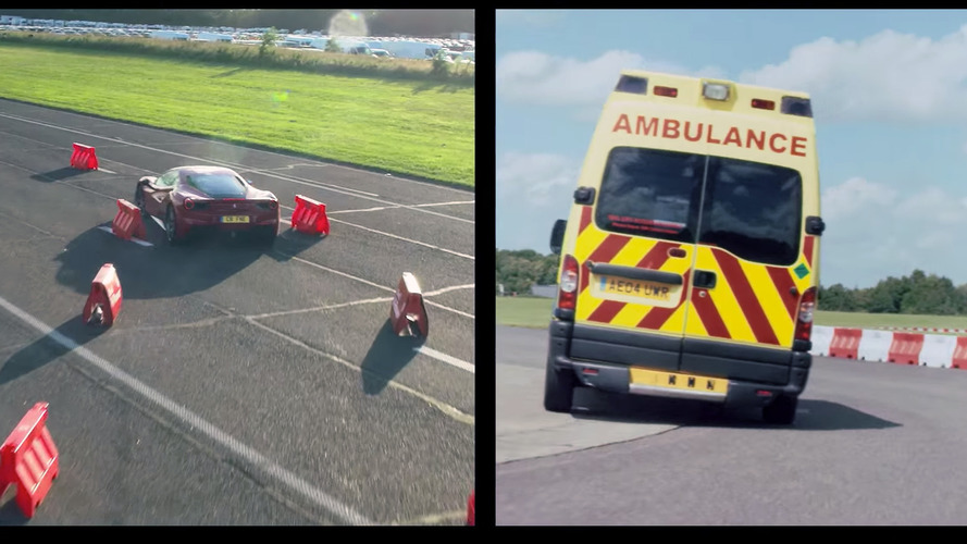 Watch Sebastian Vettel race an ambulance against a Ferrari 488 GTB