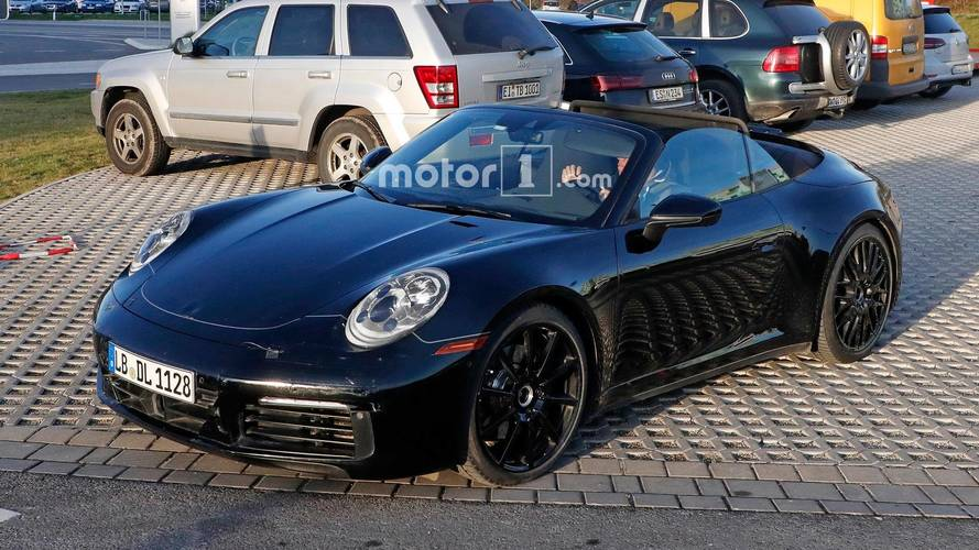 Next-Gen Porsche 911 Cabrio With Its Top Off On A Chilly Day