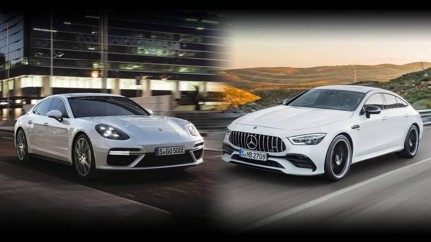 Mercedes-AMG GT 4 puertas vs. Porsche Panamera: duelo épico