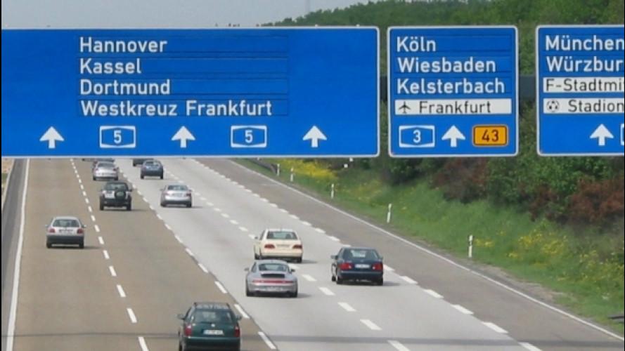 Autostrade, dal 2019 in Germania le pagano solo gli stranieri