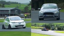 Fiesta ST200 vs Zoé vs Kart