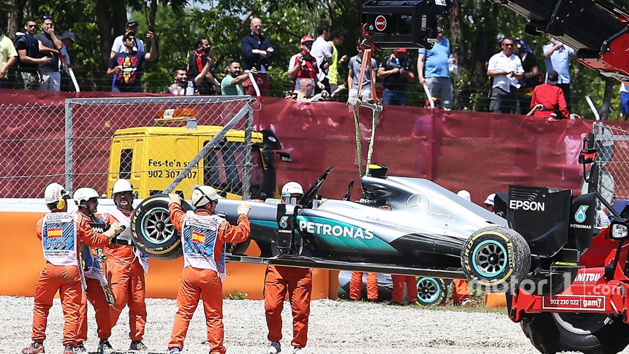 The Mercedes AMG F1 W07 Hybrid of race retiree Nico Rosberg