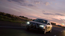 Audi A8 prototype mocks Mitsubishi jet-fighter front grill