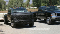 2007 Ford Super Duty next to 2006 model