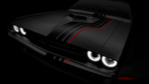 Check out Mopar's blacked-out Challenger and retro Wrangler for SEMA