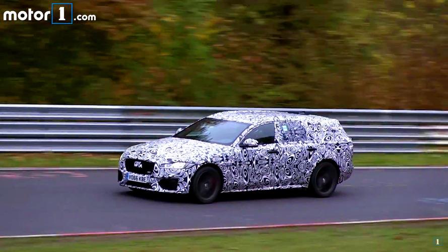 Jaguar XF Sportbrake spied on video at a misty Nurburgring