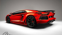 Lamborghini Aventador by ASMA preview design render, 1280, 14.02.2012