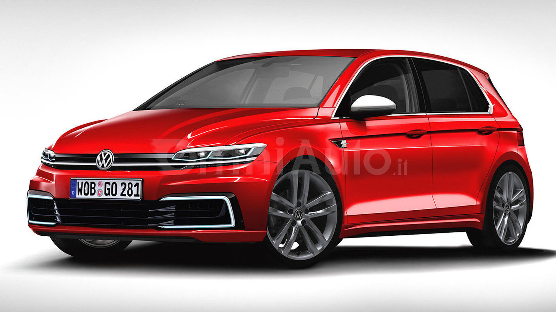 2017 vw golf rendering previews what to expect. Black Bedroom Furniture Sets. Home Design Ideas