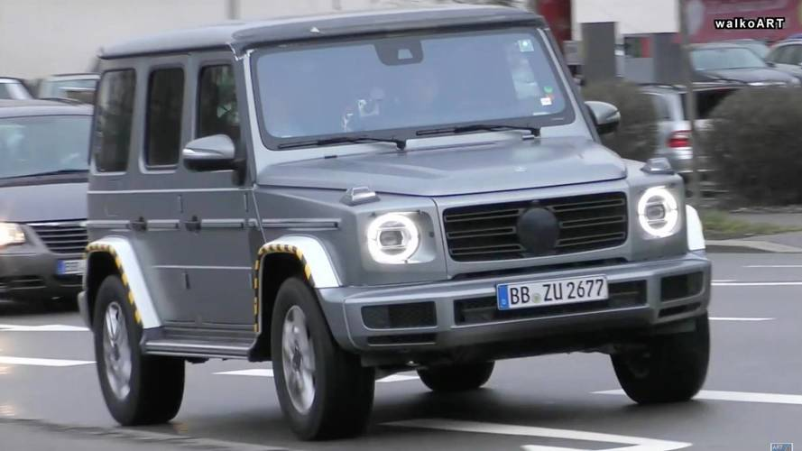 The New Mercedes G-Class Looks Imposing On The Road