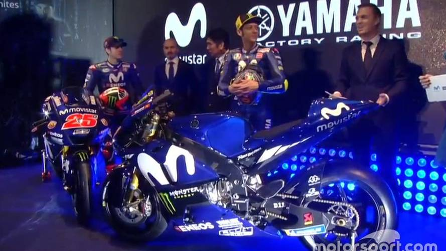 Moto GP - Yamaha apresenta moto de Rossi e Viñales para 2018