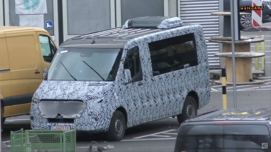 All-New Mercedes Sprinter Prototypes Spied From Afar