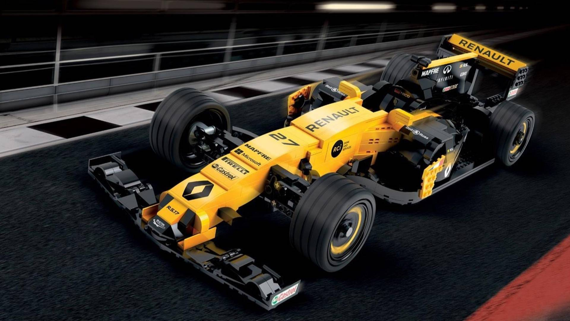 Renault Builds 600,000-Piece Lego Model Of Its RS 17 F1 car